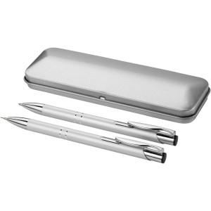 Dublin alumínium tollkészlet, fekete tollbetéttel, ezüst